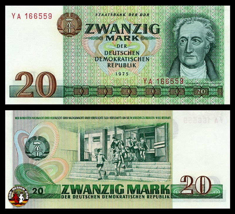 20 Mark Banknote 1975