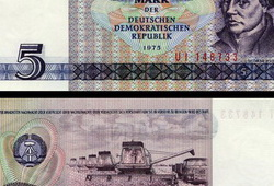 5 Mark Banknote 1975